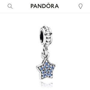 Pandora Blue Star Charm